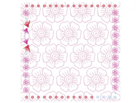 Tablecloth Mina in pink by Overbeck and Friends