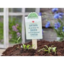 DieStadtgärtner SEEDGREETINGS Gardening is cheaper than therapy