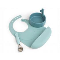 Done by Deer Silicone Tableware Set PEEKABOO blue
