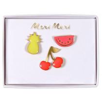 Meri Meri 3 Enamel Pins FRUITS