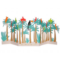 Meri Meri 3D Greeting Card TROPICAL BIRD