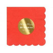 Meri Meri 20 Small Napkins RED