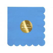 Meri Meri 20 Small Napkins BRIGHT BLUE