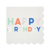 Meri Meri 16 Large Paper Napkins BIRTHDAY
