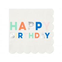 Meri Meri 16 Small Paper Napkins BIRTHDAY