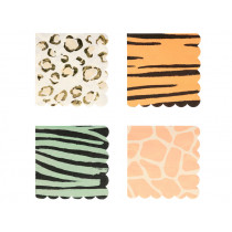 Meri Meri 16 Small Napkins SAFARI ANIMALS