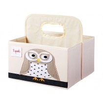 3 Sprouts diaper caddy OWL