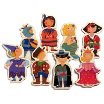 Wooden magnets with fancy children by Djeco