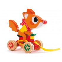 Pull along toy with Scouic the fox by Djeco