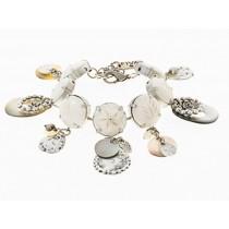 FIVA bracelet (AS, versilb.Elemente, Bein)