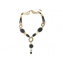 FIVA necklace (Agat, Swarovski, Murano, Horn)