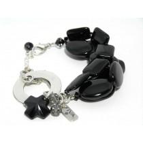 FIVA Bracelet (schwarz 3 reihig)