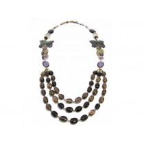 FIVA Necklace (3reihig Natursteine)