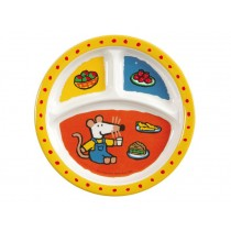 Kids melamine menu plate with Mausi by Petit Jour