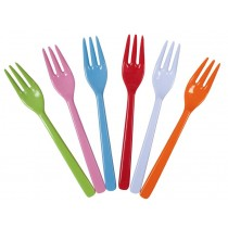 Melamine cake forks in bright colours by RICE