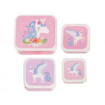 A Little Lovely Company Lunchbox Set UNICORN