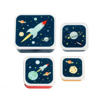 A Little Lovely Company Lunchbox Set SPACE