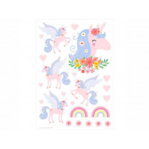 A Little Lovely Company Wall Stickers UNICORN flowers