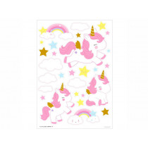 A Little Lovely Company Wall Stickers UNICORN gold