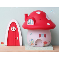 A Little Lovely Company Mushroom House Night-Light FOREST