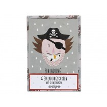Ava & Yves Invitation Postcard Set PIRATE