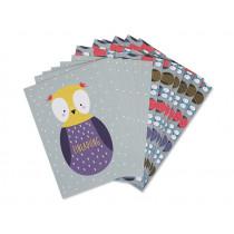 Ava & Yves Invitation Postcard Set OWL