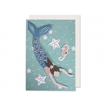 Ava & Yves Greeting Card MERMAID