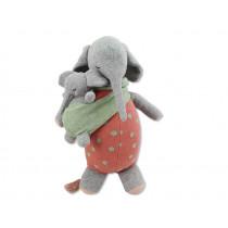 Ava & Yves Cuddly Toy ELEPHANT MOTHER MARLENE WITH BABY