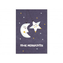 """Ava & Yves Postcard CHRISTMAS ORNAMENTS """"Frohe Weihnachten"""""""