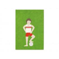 Ava & Yves Postcard FOOTBALL PLAYER