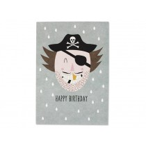 Ava & Yves Postcard PIRATE Happy Birthday