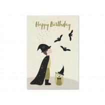 """Ava & Yves Postcard MAGICIAN """"Happy Birthday"""""""