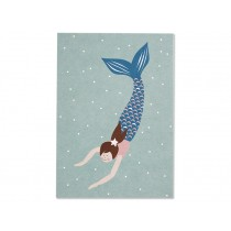 Ava & Yves Postcard MERMAID