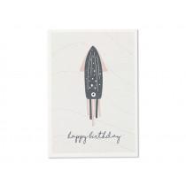 "Ava & Yves Postcard OCTOPUS ""Happy Birthday"""