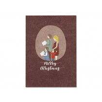 "Ava & Yves Postcard CHRISTMAS FAMILY ""Merry Christmas"""