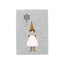 "Ava & Yves Postcard CHRISTMAS ELF ""For You"" blue"