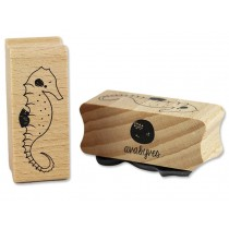 Ava & Yves Rubber Stamp SEA HORSE