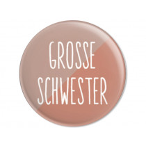 Ava & Yves Button GROSSE SCHWESTER old rose