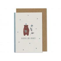 "Ava & Yves Greeting Card BEAR ""Hurra, ein Junge!"""