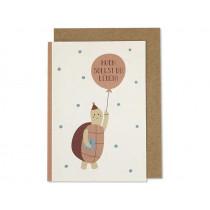 "Ava & Yves Birthday Card TURTLE ""Hoch sollst du leben!"""