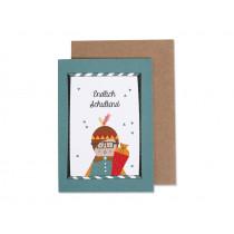 Ava & Yves Greeting Card SCHOOL Boy