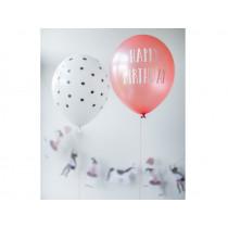 "Ava & Yves Balloons CIRCUS GIRL ""Happy Birthday!"""