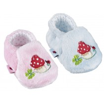 Baby shoes with fly agaric by Spiegelburg