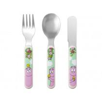 Barbapapa kids cutlery garden