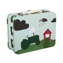 Blafre Metal Lunchbox TRACTOR green