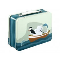 Blafre metal lunchbox arctic animals