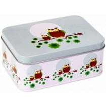 Blafre lunch box owl light blue