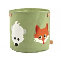 Blafre canvas basket FOREST ANIMALS SMALL