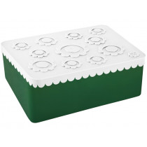 Blafre Lunch Box FLOWERS white / dark green