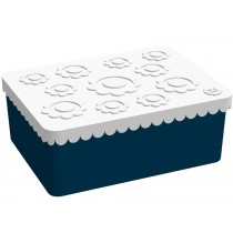 Blafre lunchbox flowers dark blue